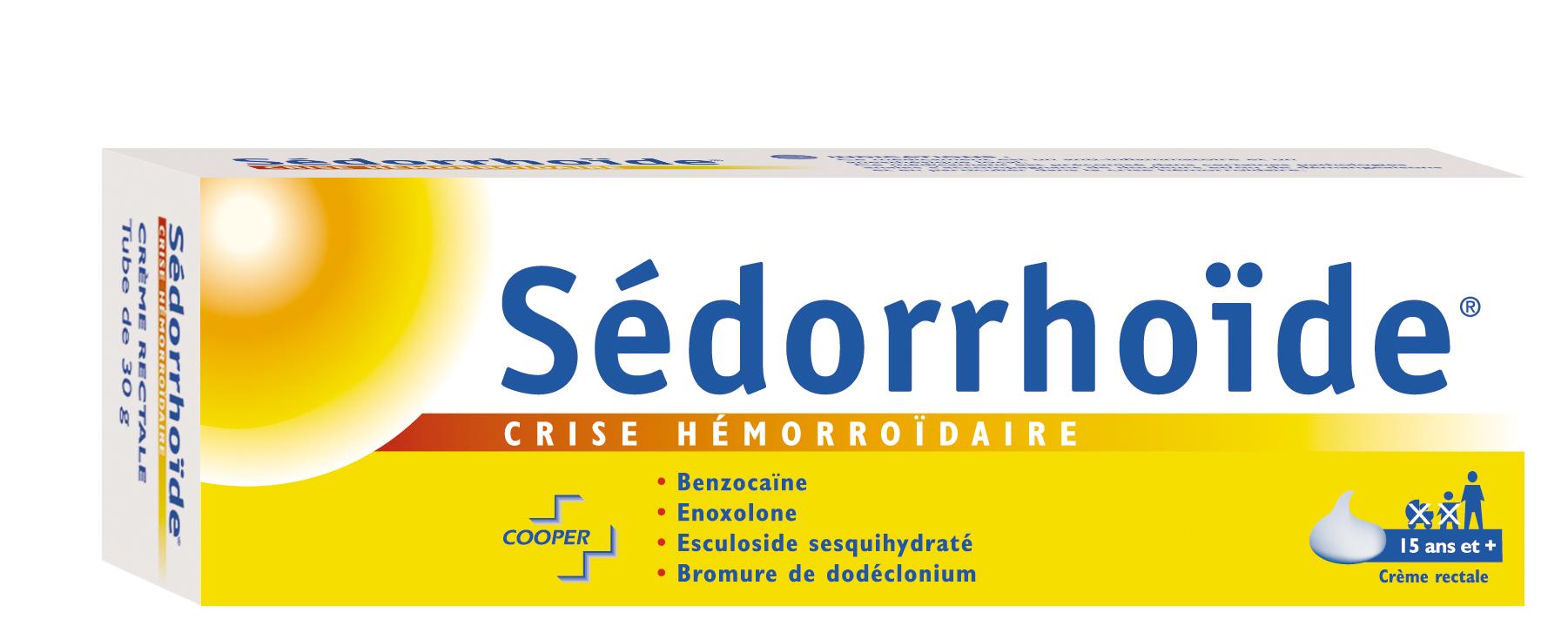 SEDORRHOIDE CRISE HEMORROIDAIRE, 30 g crème rectale   Cooper